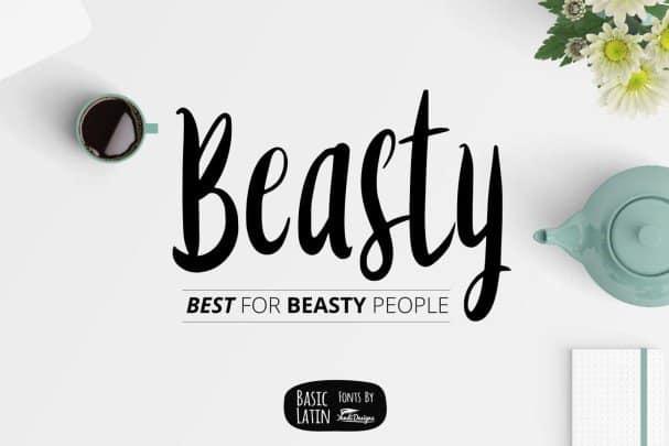 Beasty Fonts шрифт скачать бесплатно