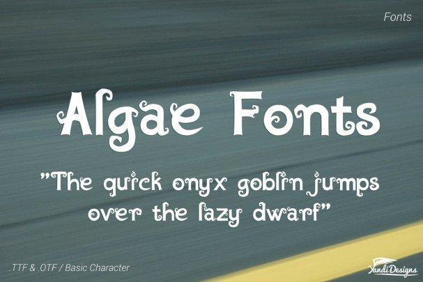Algae Fantasy Fonts шрифт скачать бесплатно