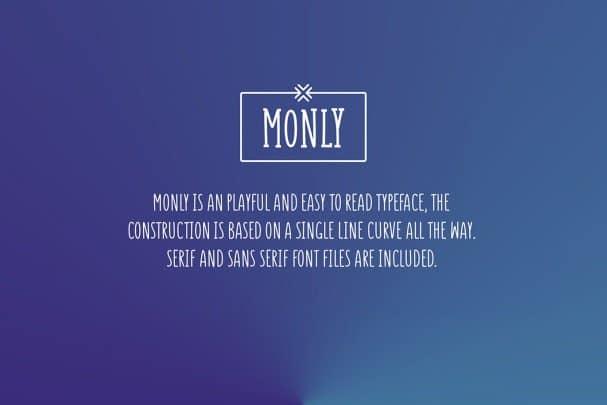 Monly шрифт скачать бесплатно