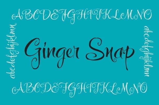 Ginger Snap шрифт скачать бесплатно