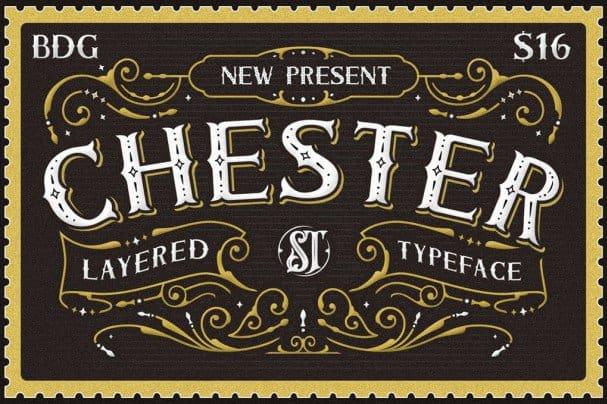 Chester - Layered   Family шрифт скачать бесплатно