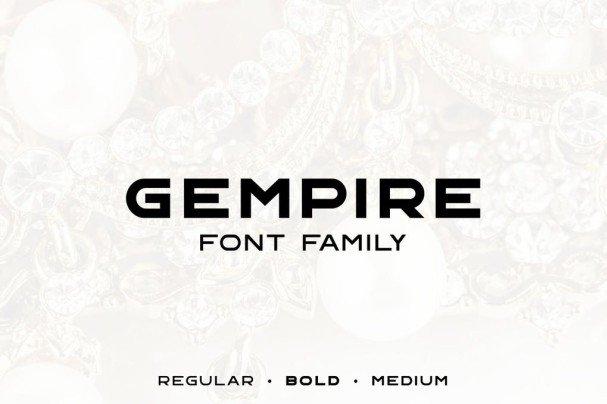 Gempire шрифт скачать бесплатно