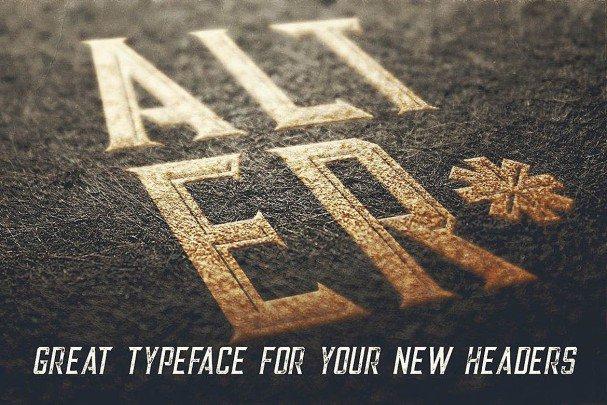 Alter - Vintage Style   шрифт скачать бесплатно