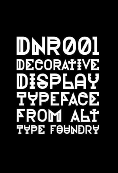 Alt DNR001 шрифт скачать бесплатно
