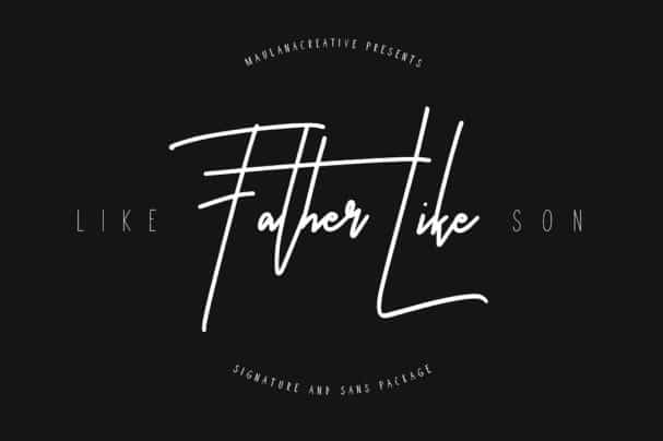 Like Father Like Son Typeface шрифт скачать бесплатно