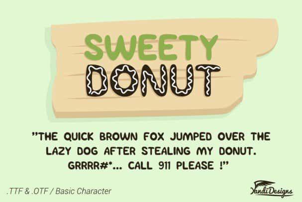 Sweety Donut Fonts шрифт скачать бесплатно