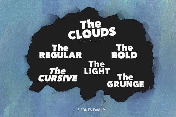 The Clouds Family шрифт скачать бесплатно