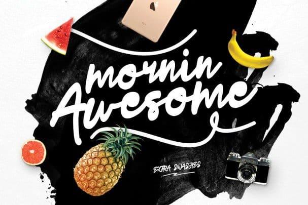 Mornin Awesome шрифт скачать бесплатно