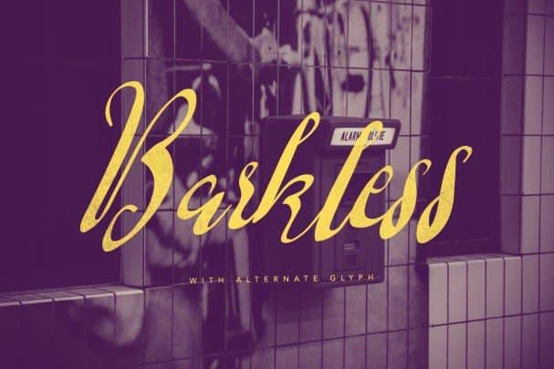 Barkless шрифт скачать бесплатно