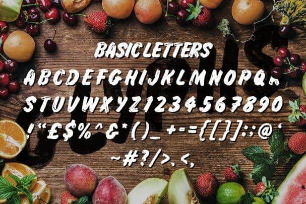 Grocery Brush шрифт скачать бесплатно