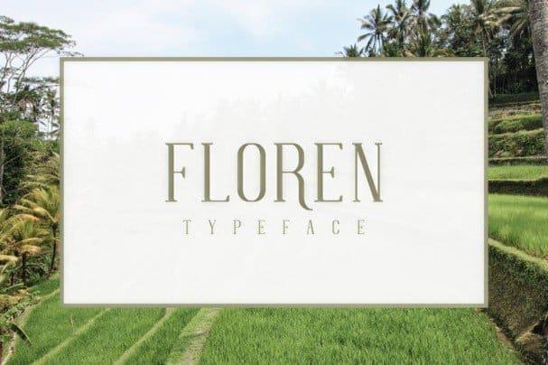 FLOREN Typeface шрифт скачать бесплатно