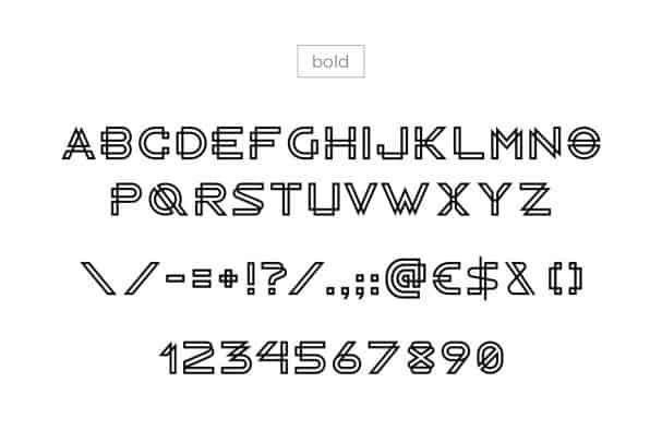 RADON monogram logo FONT шрифт скачать бесплатно