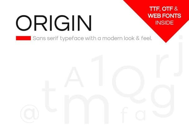 ORIGIN - Modern Sans-Serif Typeface + Web Fonts шрифт скачать бесплатно