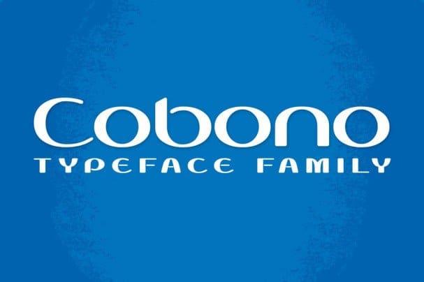 Cobono шрифт скачать бесплатно