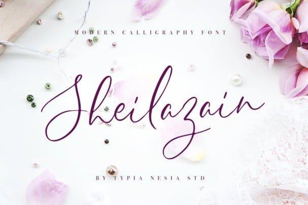 Sheilazain шрифт скачать бесплатно