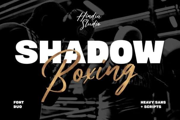 Shadow Boxing Font Duo шрифт скачать бесплатно