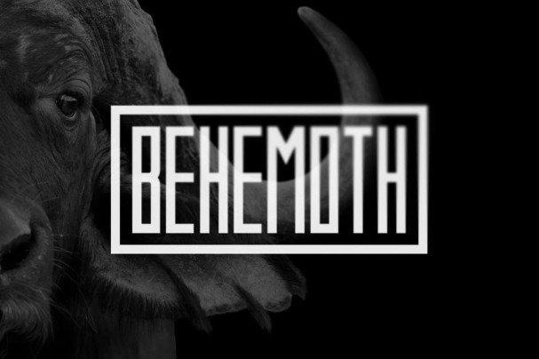 Behemoth Typeface шрифт скачать бесплатно