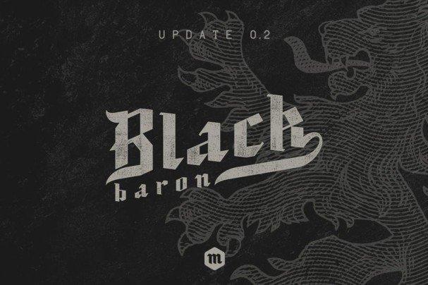 Black Baron шрифт скачать бесплатно