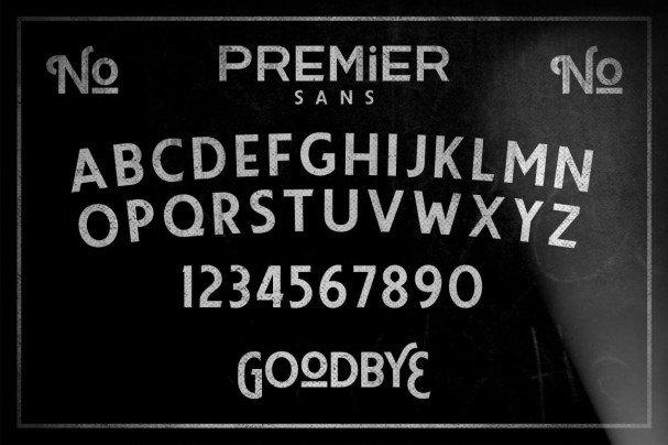 Premier Sans шрифт скачать бесплатно
