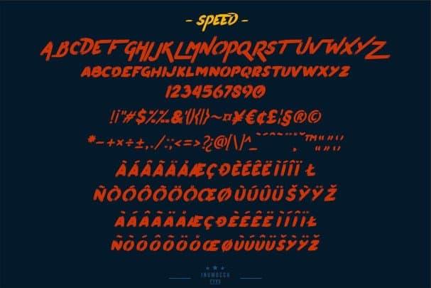 Pumpkin's Brush шрифт скачать бесплатно