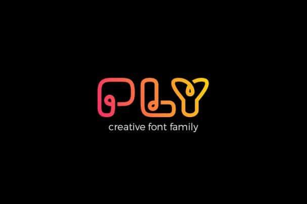 PLY font family шрифт скачать бесплатно
