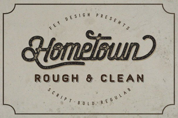 Hometown - Clean And Rough шрифт скачать бесплатно