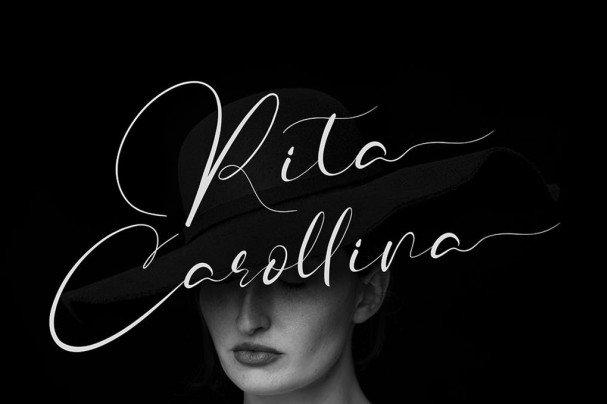 Rita Carollina шрифт скачать бесплатно