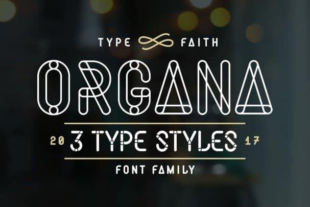Organa Caps шрифт скачать бесплатно