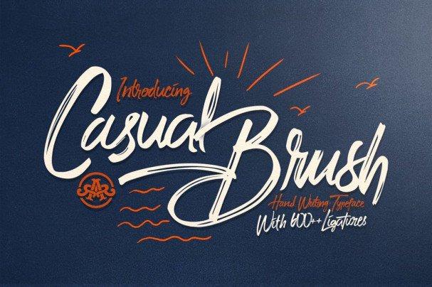 Casual Brush шрифт скачать бесплатно