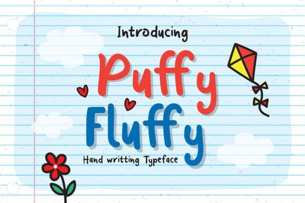 Puffy Fluffy шрифт скачать бесплатно