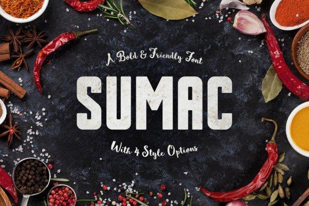 Sumac Typeface шрифт скачать бесплатно