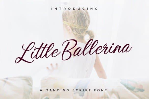 Little Ballerina шрифт скачать бесплатно