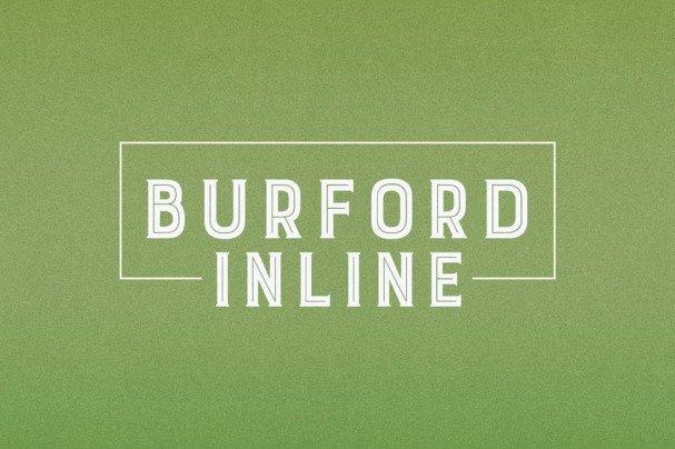 Burford Inline шрифт скачать бесплатно