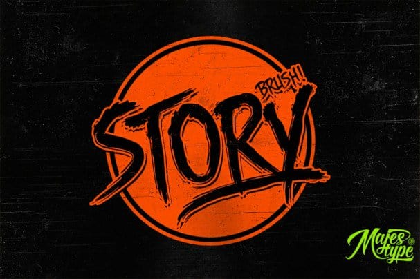 Story Brush шрифт скачать бесплатно