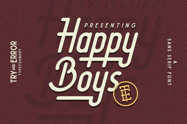 Happy Boys шрифт скачать бесплатно