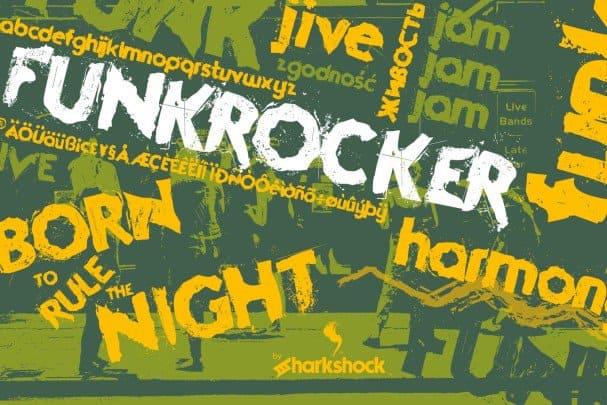 Funkrocker шрифт скачать бесплатно