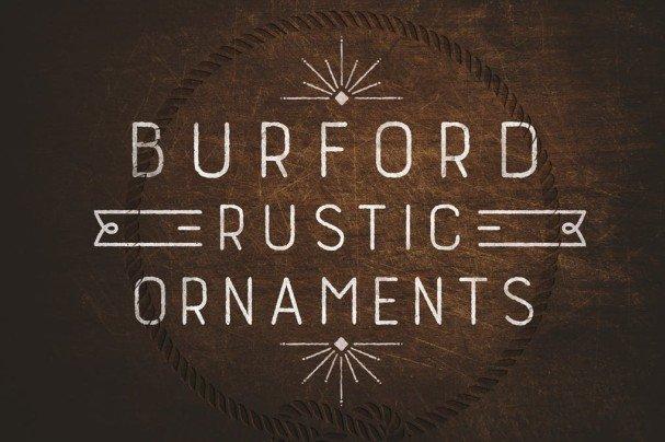 Burford Rustic Extras шрифт скачать бесплатно