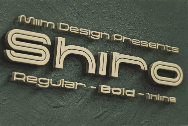Shiro - Modern   шрифт скачать бесплатно