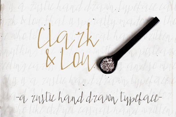 Clark & Lou шрифт скачать бесплатно