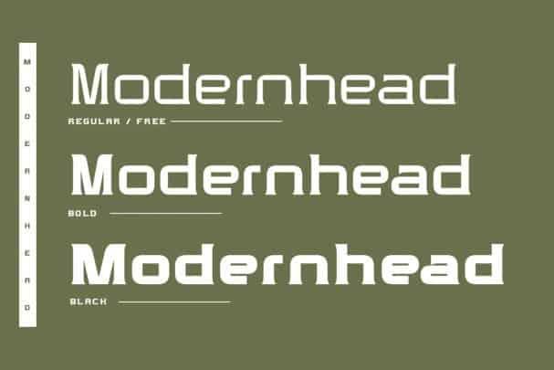 Modernhead Serif Typeface шрифт скачать бесплатно