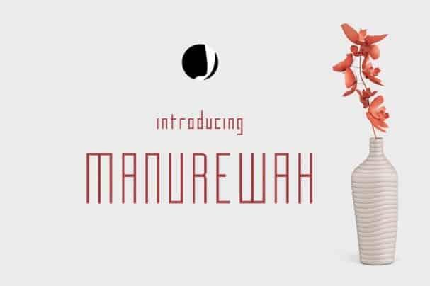 Manurewah шрифт скачать бесплатно