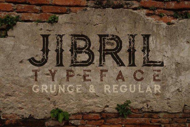 Jibril - Vintage Style   шрифт скачать бесплатно