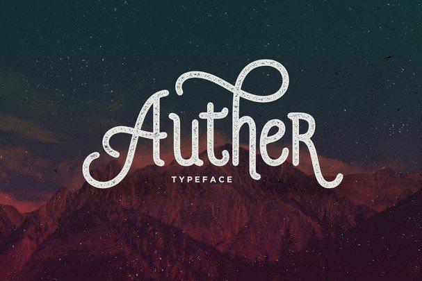 Auther Typeface шрифт скачать бесплатно