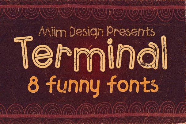 Terminal - Funny   шрифт скачать бесплатно