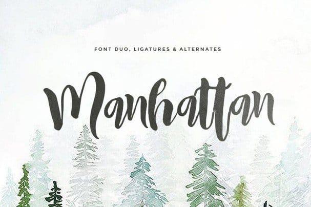 Manhattan (2 fonts) шрифт скачать бесплатно