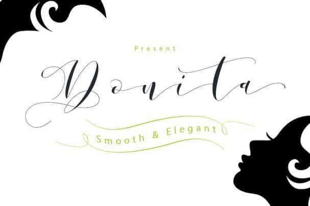 Donita Script шрифт скачать бесплатно