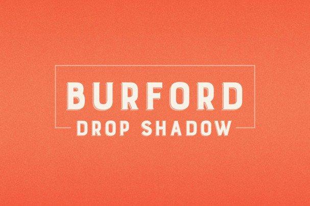 Burford Drop Shadow шрифт скачать бесплатно