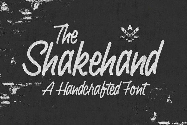 Shakehand Typeface шрифт скачать бесплатно