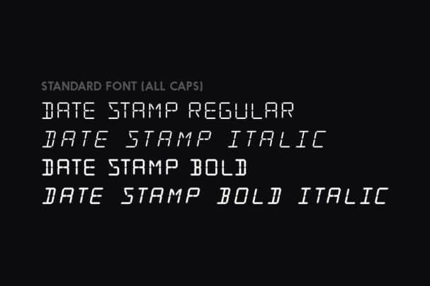 Date Stamp шрифт скачать бесплатно