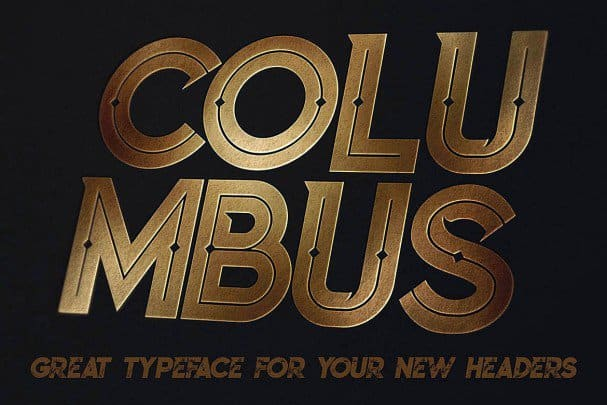 Columbus Typeface шрифт скачать бесплатно